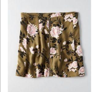 AEO Zip Front Mini Skirt